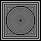 Arte ?ptica Ilusão abstrata preto e branco de Geomrtric Vetor ilustração royalty free
