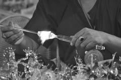 Arte que sopla de cristal Fotografía de archivo libre de regalías