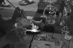 Arte que sopla de cristal Fotos de archivo