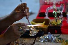 Arte que sopla de cristal Fotos de archivo libres de regalías