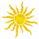 A arte que tira o sol colorido do grunge isolou o fundo abstrato Imagens de Stock