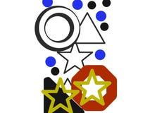 Arte real das estrelas Imagem de Stock
