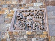 Arte religiosa, cristã medieval Igreja exterior de St Mary, Santa Maria Assunta em Fornovo, Itália Foto de Stock