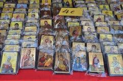 Arte religioso de los iconos cristianos Foto de archivo libre de regalías