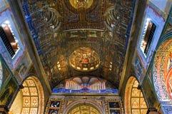 Arte religioso en el interior de la iglesia Funchal de la jesuita Imagenes de archivo