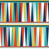 Arte retro do projeto do vintage geométrico sem emenda do sumário do fundo do vetor do teste padrão com triângulos coloridos e as ilustração stock