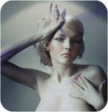 Arte-ritratto di bello modello femminile fotografia stock