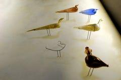 Arte romana, bottiglie del flacon di forma dell'uccello Fotografia Stock Libera da Diritti