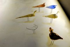 Arte romana, garrafas do flacon da forma do pássaro Foto de Stock Royalty Free
