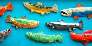 Arte Salmon colorida imagem de stock