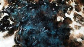Arte sottratta di lerciume della macchia Fotografia Stock