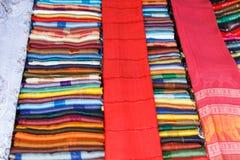 Arte a strisce Tailandia del panno Fotografia Stock