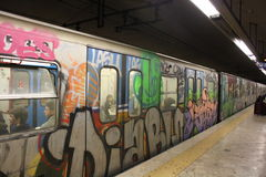 Arte subterrânea do metro de Roma, Foto de Stock