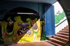 Arte subterrânea dos grafittis imagem de stock