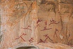 Arte sudafricana della roccia del boscimano Immagini Stock