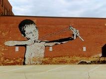 Arte surpreendente da rua da cidade imagem de stock royalty free
