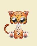Arte sveglia dell'illustrazione di vettore di Jaguar Fotografia Stock Libera da Diritti
