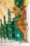 Arte tailandés adornado en la iglesia tailandesa en Wat Pa Phu Kon, Tailandia Imagen de archivo