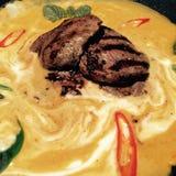 Arte tailandés de la comida de la comida Fotos de archivo libres de regalías