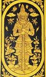 Arte tailandés de la pintura del estilo del cuento de hadas tradicional Foto de archivo