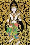 Arte tailandés de la pintura del estilo del cuento de hadas tradicional Imagenes de archivo