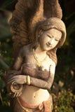 Arte tailandés del ángel en Chacheongsao Imágenes de archivo libres de regalías