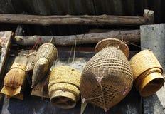 Arte tailandés del bambú del envase del arroz pegajoso Foto de archivo