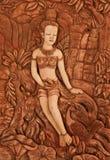 Arte tailandés del moldeado del estilo Foto de archivo libre de regalías
