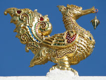 Arte tailandés del tejado del templo Imagen de archivo libre de regalías
