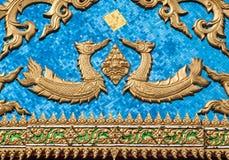 Arte tailandés en la iglesia Foto de archivo libre de regalías