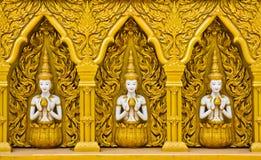 Arte tailandés en la pared Imagenes de archivo