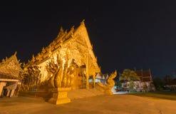 Arte tailandés en Si Phan Ton Temple, Nan Province Imagenes de archivo