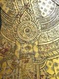 Arte tailandés en un templo. Foto de archivo