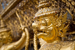 Arte tailandés en Wat Phra Kaew Fotografía de archivo libre de regalías