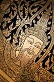 Arte tailandés tradicional de la pintura del estilo Foto de archivo libre de regalías