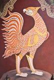 Arte tailandés tradicional de la pintura del estilo Fotografía de archivo