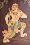 Arte tailandés tradicional de la pintura del estilo Imagen de archivo libre de regalías