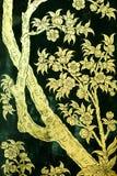 Arte tailandés tradicional de la pintura del estilo Foto de archivo