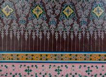 Arte tailandés tradicional de la pintura del estilo, templo de Tailandia Fotos de archivo