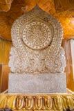 Arte tailandés tradicional del símbolo de mármol de la iglesia en templo Fotografía de archivo libre de regalías