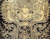 Arte tailandesa da folha de ouro Fotografia de Stock