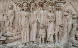 Arte tailandesa da parede do templo fotografia de stock royalty free