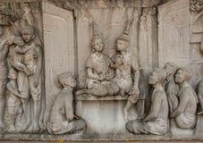 Arte tailandesa da parede do templo imagens de stock royalty free
