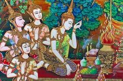 Arte tailandesa da pintura Imagens de Stock