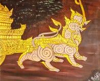 Arte tailandesa da pintura do estilo fotografia de stock