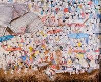Arte tailandesa da pintura mural Imagens de Stock Royalty Free