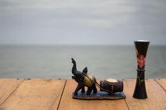 Arte tailandesa do elefante imagens de stock royalty free
