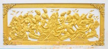 Arte tailandesa na parede Fotografia de Stock