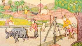 Arte tailandesa na vida nativa velha Imagem de Stock Royalty Free