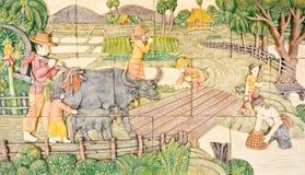 Arte tailandesa na vida nativa velha Foto de Stock Royalty Free